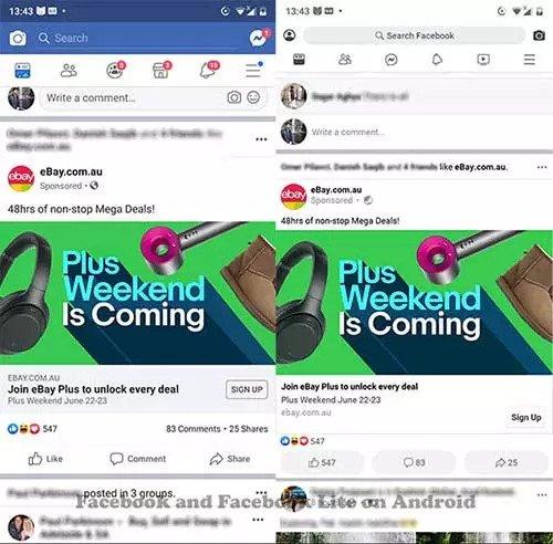 Perbedaan Facebook lite dan Facebook biasa