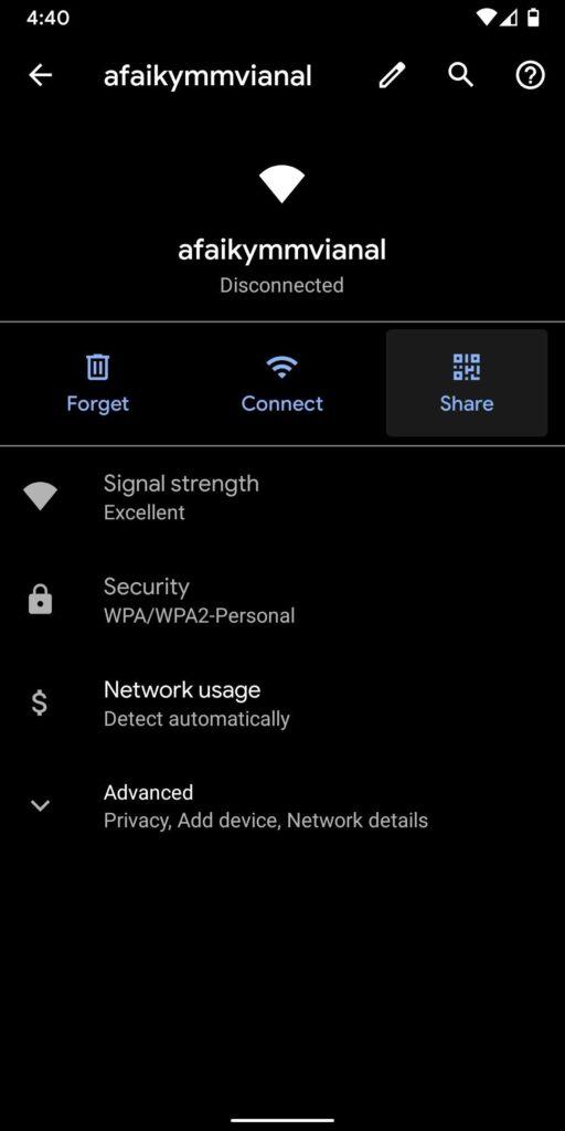 Cara Mengetahui Password Wifi yang Pernah Terhubung dan Cara Membagikan nya